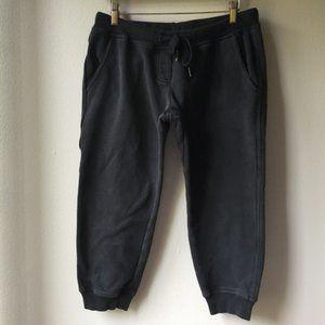 Adidas Stella McCartney Crop Sweatpants in Black